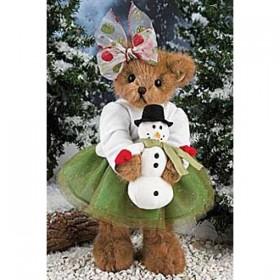 Мишка со снеговиком (36 см)