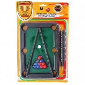 Настольная игра 4 в 1 (бильярд, стикбол, стик гольф, стикбоулинг)