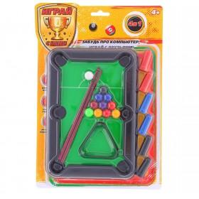 Настольная игра 4 в 1 (бильярд, стикбол, стикбоулинг, стик гольф)