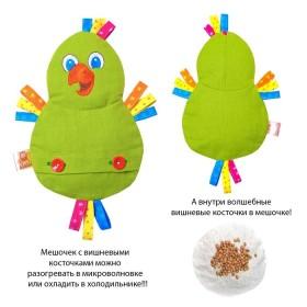 """Развивающая игрушка с вишневыми косточками """"Попугай. Доктор мякиш"""""""