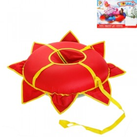 "Тюбинг ""Ватрушка-солнышко"", диаметр 80 см, цвет красный"