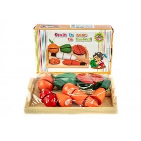 Набор деревянных овощей на липучке