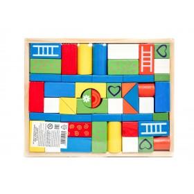 Набор деревянных кубиков, 49 фигур