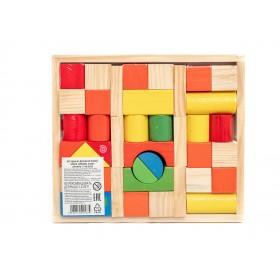 Набор деревянных кубиков, 39 фигур