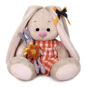 Зайка Ми в оранжевом платье с зайчиком