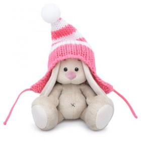 Зайка Ми в полосатой розовой шапке (малыш)