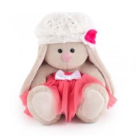 Зайка Ми в розовой юбке с белым беретом (малыш)