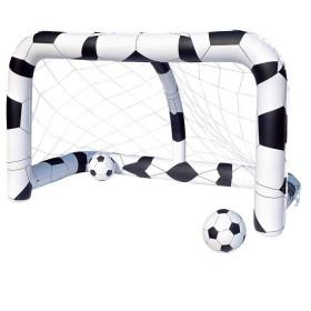 Футбольный набор (надувные ворота + 2 мяча) 213х122х137см, от 3+